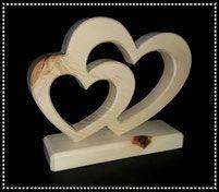 Zirbenholz Geschenk zur Hochzeit oder Verlobung schoenes Geschenk aus Holz