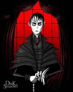 Dark Shadows- Tim Burton art.  (I haven't seen this, but the picture is cool).