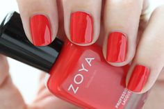 Zoya Island Fun Summer 2015 Swatch Demetria Red Cream