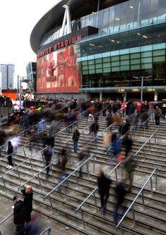 The stadium filling up - #Arsenal v #Swansea.