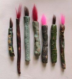 chinese ceramic calligraphy brushes