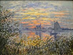 Claude Monet - Marine View with a Sunset, 1875 at the Museum of Art Philadelphia