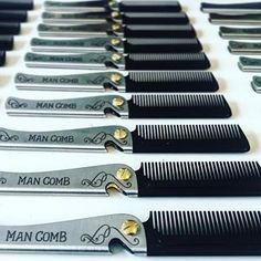 Tools and equipment for the modern man. A collection of unique folding combs by DAFT® Tools And Equipment, Modern Man, The Man, Fresh, Home, Design, Ad Home, Homes, Design Comics