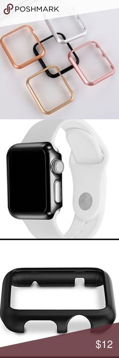 New Case Frame for Apple Watch 1 & 2 High Quality Brand new case frame for Apple Watch in high quality Aluminium material. It's good preventing your watch for Breaking and scratching. Also looks good if you want to look your watch skin in other color. Available in Rose Gold, Black and Silver. Accessories Phone Cases