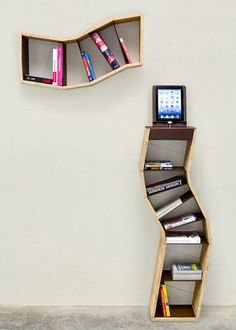 Creative Bookshelves Design Cool Shelves Wooden Floating Bookshelf Ideas