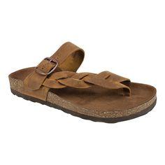 Women Huntington Flat Sandal Dark Brown Products