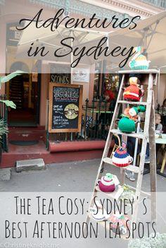The Tea Cosy: Best Afternoon Tea Spots via christineknight. The Rocks Sydney, Sydney Blog, Best Afternoon Tea, Sydney Australia, High Tea, Places To Eat, Cosy, Ladder Decor, Adventure