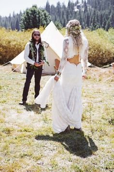 Bohemian, festival wedding in Yosemite National Park, California | Confetti.ie @only1mallory