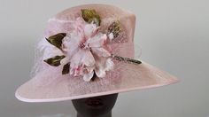Pink Derby/Church Hat by HatTrix on Etsy Church Hats, Pink Stuff, Kentucky Derby Hats, Summer Parties, Fascinators, Hat Sizes, No Frills, Shabby Chic, Barbie