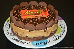 Reese's Peanut Butter Cup Cheesecake On A Brownie Crust - Hugs and Cookies XOXO