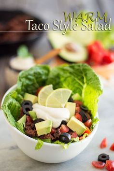 "Warm Taco Style Salad | <a href=""http://thehealthyfoodie.com"" rel=""nofollow"" target=""_blank"">thehealthyfoodie.com</a>"