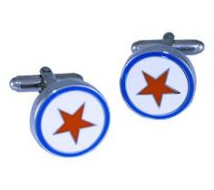 Rockstar cufflinks to match with a blue or red tie and worn white or blue shirt. they rock! Our Love, Cufflinks, Tie, Rock, Shirt, Products, Dress Shirt, Cravat Tie, Skirt
