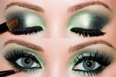#green #eyeshadow