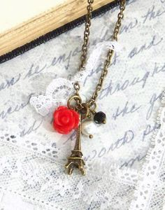 @Maria Canavello Mrasek Lill, this is what i want. haha  Eiffel Tower Necklace, Eiffel Tower Jewelry, Vintage Style Jewelry, Vintage Style Necklace, Paris Eiffel Tower, Antique Brass Necklace,. $13.95, via Etsy.