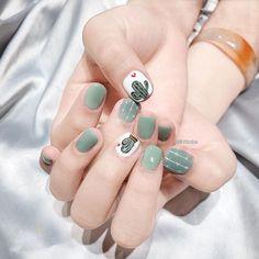 Korean Nails, Vietnam Travel, Cute Nails, Gel Nails, Nailart, Cactus, Nail Designs, Beauty, Ongles