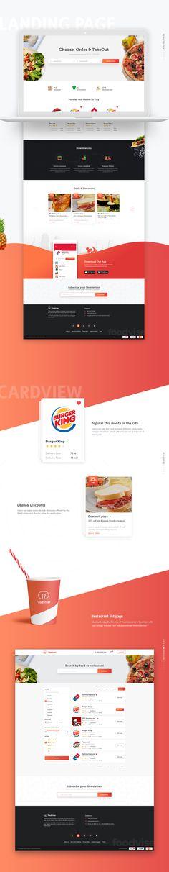 Foodviser online food delivery website on Behance