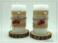 Bougies de Noël avec des grelots