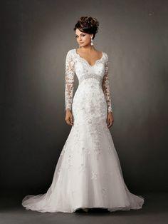 Trend of Lace Sleeve Wedding Dress is Begin