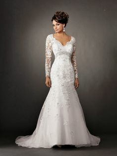 Lace Long Sleeve Mermaid Wedding Dress..too beautiful not to pin