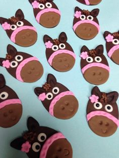 Whimsical Horse Edible Fondant Cupcake Toppers - 12 Pieces by Sugar Love & Happiness on Gourmly
