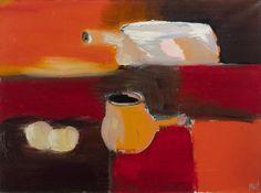 """Nicolas de STAEL (1914-1955) - NATURE MORTE AU POÊLON BLANC - 1955 - Huile sur[...], mis en vente lors de la vente """"Post-War & Contemporain 1"""" à Artcurial   Auction.fr"""