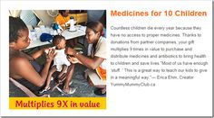 This gift actually multiples in value - so $30 equals $270 - World Vision Christmas Gift Guide @DownshiftingPRO Wishlist - Medications #worldvisiongifts