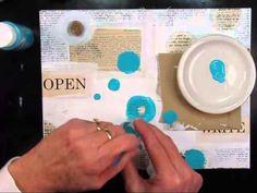 Definitely worth the watch (K): Shari Carroll Art Journal 1 11 13 graffitti look journal page