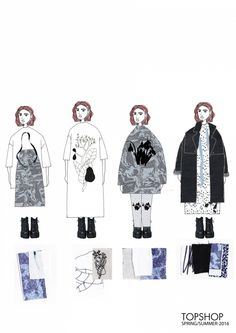 Fashion Sketchbook - fashion illustrations; line up; fashion student portfolio // Laura Rose Samson