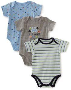 Gerber Baby-Boys Newborn 3 Pack Little Man Bodysuit, « Clothing Impulse