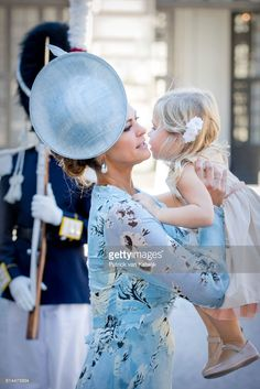 Princess Madeleine of Sweden and Princess Leonore of Sweden arrive for a thanksgiving service on the occasion of The Crown Princess Victoria of Sweden's 40th birthday celebrations at the Royal Palace on July 14, 2017 in Stockholm, Sweden. (Photo by Patrick van Katwijk/Getty Images)