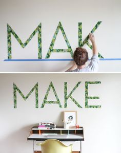 DIY - Make these renter-friendly removable DIY typographic wall decals - what a great project! Awesome \\\ via @Curbly