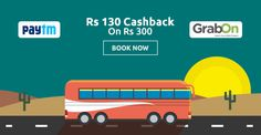 Rs. 130 Cashback On Rs. 300. This Offer Is Seriously Madness!  Grab Now! http://www.grabon.in/paytmbus-coupons/ #PaytmKaro