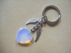 OPALITE   Angel Wings   Bag charm / keyring