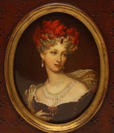 Oval Miniature Portrait Of A Beautiful Lady
