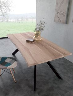 Bio-Metal table 704 / ME modern fixed tables - tables- Tavolo Bio-Metal tavoli moderni fissi – tavoli Bio-Metal table 704 / ME modern fixed tables – tables - Modern Table, Modern Rustic, Luminaire Suspension Design, Grande Table A Manger, Sweet Home, Dining Table, Desk, Fancy, Steel