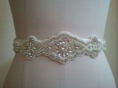Wedding Belt Bridal Belt Sash Belt Crystal by LucyBridalBoutique, $78.00