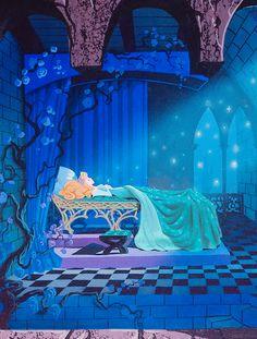 Sleeping Beauty Castle Walkthrough concept art, by Eyvind Earle. : Sleeping Beauty Castle Walkthrough concept art, by Eyvind Earle. Walt Disney, Disney Magic, Disney Art, Disney Icons, Sleeping Beauty Castle, Disney Sleeping Beauty, Disney Dream, Disney Love, Disney And Dreamworks