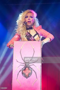 Maria Brink of In This Moment performs live on stage at Wulfrun Hall on March 4, 2015 in Wolverhampton, United Kingdom