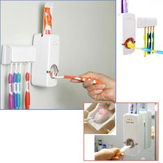 One-touch operation, use conveniently. Works for every brand of toothpaste. Keeps youe bathroom clean and tidy. Easy installation. No more  wasted toothpaste. No batteries required. Take out the toothpaste lid and insert the suction inlet. If not tightly inserted, will make air flow in, cause less extruction quantity or not easy to be squeezed our. Clean the surface of tile and glass which can install the toothpaste dispenser.