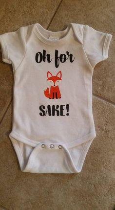 Oh For Fox Sake Baby Onesie