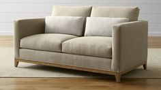 Taraval Armless Loveseat with Oak Base - Crate and Barrel Barrel Furniture, New Furniture, Outdoor Furniture, Formal Living Rooms, Living Room Sofa, Oakwood Furniture, Sofa Couch, Apartment Sofa, Soft Seating