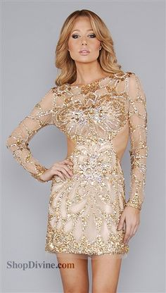 Emilio Pucci Gold Skull Caviar Dress GOLD DRESS JOVANI AMAZING