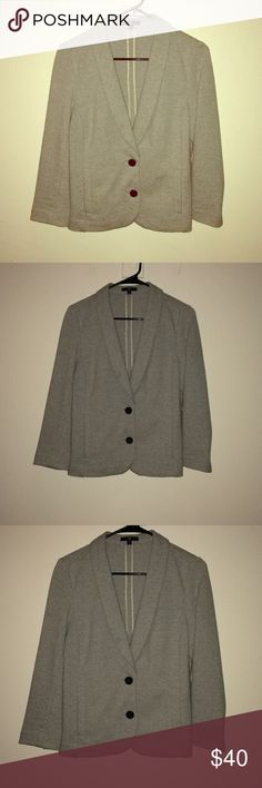 SALE! Gap Comfy Blazer Jacket A real cute addition to your wardrobe (this could be😉). It's just so darn cute if she doesn't sell soon(ish) I'll likely have to add her into my mix☺️. It's made from thick sweatshirt like material & is a light heather gray. Size medium. EUC. TTS in my opinion (-petite side) but if unsure bout it, remind me to measure! GAP Jackets & Coats Blazers