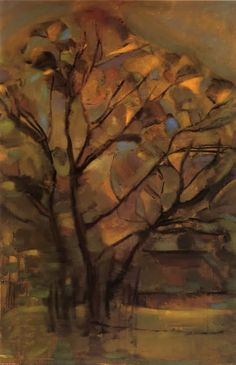 Piet Mondrian – Tall Tree Silhouettes with Bright Colors, - the McNay Art Museum Landscape Art, Landscape Paintings, Landscapes, Mondrian Kunst, Piet Mondrian Artwork, Dutch Painters, Post Impressionism, Tree Silhouette, Dutch Artists