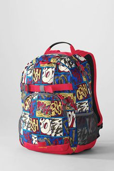 Kids' Comic Strip ClassMate® Small Backpack from Lands' End ... what an awesome boys backpack!