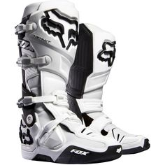 Fox Racing Instinct Boots Motocross Dirt Bike  - White