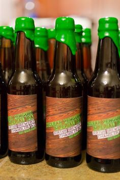 Homebrewer creates unified look with labels and wax-dipped bottles.