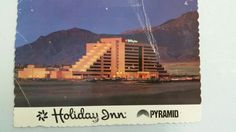 Albuquerque, NM Holiday Inn Pyramid Hotel postcard from 1989.