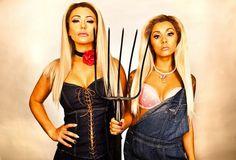Snooki And JWOWW dressed up as Paris Hilton and Nicole Richie