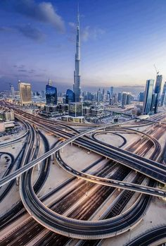 A beautiful view of Dubai covering the whole city including the interchange at Sheikh Zayed Road